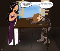 Guys stop fighting just kiss already! (Mwahahahhaha then the table will be mine!!! Mwahahahaha)
