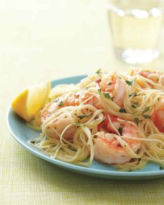 """Easy and elegant, this dish is a real catch. The use of the word """"scampi"""" to mean a garlicky, buttery preparation for shrimp is more Italian-American than Italian; it's thought to have first appeared on a menu in 1950s New Jersey."""