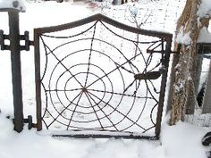 Spider Web Gate!  Cool!
