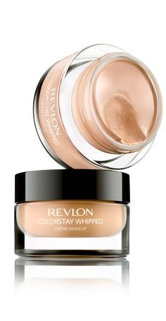 Revlon Colostay Whipped™ Crème Makeup.....i love this stuff.. i apply it with a stipple brush and set it with a little powder.. it feels awesome and the coverage is more than i expected