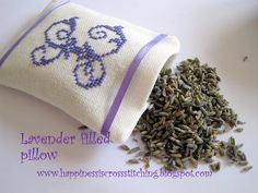 Happiness is Cross Stitching : The smell of lavender dances around my home!