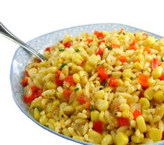 One Perfect Bite: Corn and Pepper Orzo