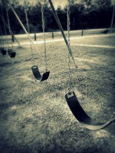 Swings. They make me feel like I can fly. Like I'm infinite:)