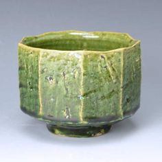 Kyoto Kiyomizu-yaki ware tea bowl gift Oribe plane taking Oribe mentori