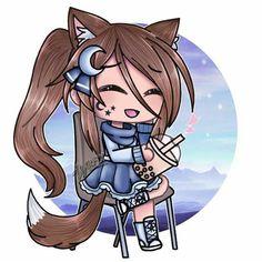 Love it lulu gacha Neko Kawaii, Kawaii Anime Girl, Anime Wolf Girl, Anime Art Girl, Kawaii Drawings, Cute Drawings, Cute Characters, Anime Characters, Cute Anime Chibi