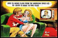 Risqué Bamforth Comic Postcard WIRELESS Radio early Television Re-entry eminent Funny Cartoon Pictures, Cartoon Jokes, Girl Cartoon, Cartoon Art, Adult Dirty Jokes, Adult Humor, Adult Cartoons, Sexy Cartoons, Funniest Cartoons