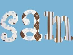 """Custom Painted Wood Wooden Nursery Wall Letters Name ($16 for 2 - 6"""")"""