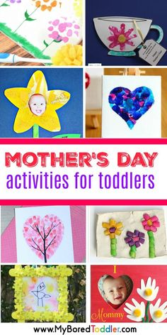 mother's day activities for toddlers crafts and activities for 1 2 and 3 year olds to make for mom mum #mothersday #mothersdaycrafts #toddlercrafts