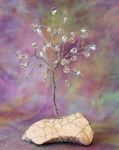 Hey, I found this really awesome Etsy listing at https://www.etsy.com/listing/169080107/glass-drops-wire-tree-sculpture-in-steel