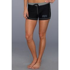 Ward's Boxing Club NYC Sucker Punch Shorts ($36) ❤ liked on Polyvore featuring shorts, nylon shorts, padded shorts, draw string shorts, drawstring shorts and flat-front shorts