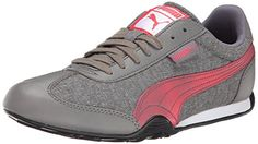 PUMA Womens 76 Runner Woven Classic Sneaker Steel GrayGeranium 6 B US * Be sure to check out this awesome product.