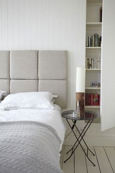 Reminds me that I wanted to do three rectangles covered in leather hanging as the headboard of one of the beds in our house.         --the style files | Page 9