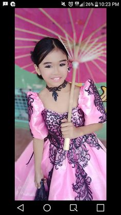 Pink Filipiniana Gown Bridal Entourage, Filipiniana, January 1, May 1, First Communion, Boutique, Costume Design, Evening Gowns, Philippines