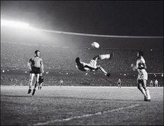 Pele's famous bicycle kick at Maracana Stadium in Rio de Janeiro 1965