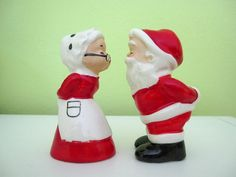Vintage Santa & Mrs. Claus Salt and Pepper Shakers by DoVintique, $8.00