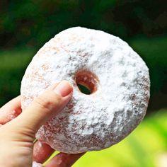 Sugar dusting donut