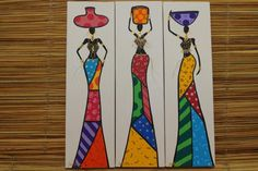 Modern painting on canvas with black women with beautiful style at work African Paintings, Easy Paintings, African Art Projects, Black Panther Art, African Quilts, Les Continents, Africa Art, Naive Art, Art Studies