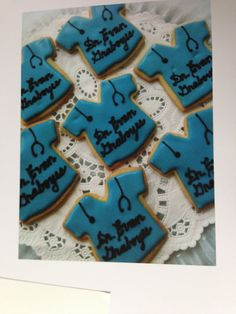 Rebeca turned the t-shirt cookie cutter in to scrubs for her favorite doctor!