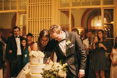 Montalvo Wedding Bride and Groom cutting their cake Photo By Alexandra Wallace