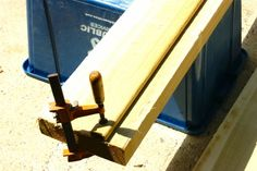 """use a wood """"fence"""" guide to cut a straight line with a circular saw, no table saw required"""