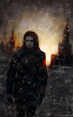Bucky Barnes ~ The Winter Soldier - amazing fan art. I love the colours and lighting and texture in this!