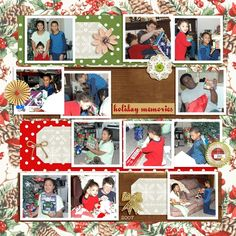 """Digital Scrapbook Inspirational Layout for Christmas made with """"A Little Sparkle"""" kit on Sahin Designs, Layout by Tina"""