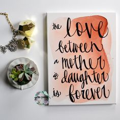 Mother's Day Coral Watercolor Love Mom Canvas Painting Wall Art Wall... ($35) ❤ liked on Polyvore featuring home, home decor, wall art, grey, home & living, home décor, wall décor, wall hangings, inspirational quotes wall art and inspirational paintings