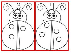 Ladybug circle stampers - 1-15 Print the spots with a circle marker, bingo dauber, or similar. 9 pages