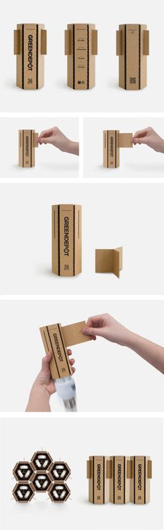 An eco-friendly light packaging created for a single light bulb considering the material, cost, glue, production, ink, and shipping arrangement. The triangular strip was designed based on the...