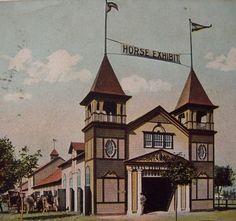 Allentown Fair 1909 Horse Exhibit. #allentownfair