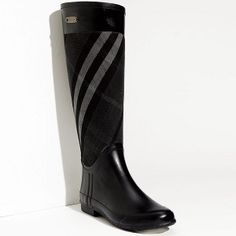 Can't go wrong with a pair of Burberry boots - a forever buy! Heeled Boots, Bootie Boots, Shoe Boots, Shoe Bag, Fab Shoes, Cute Shoes, Burberry Rain Boots, Designer Boots, Hunter Boots