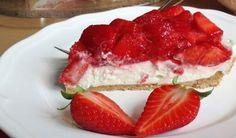 Nepečený cheesecake s jahodami