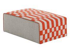 Upholstered fabric pouf BANDAS | Pouf - GAN By Gandia Blasco