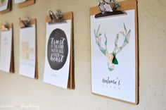 Geometric Deer Antler Printable, Delineate Your Dwelling #free #falldecor