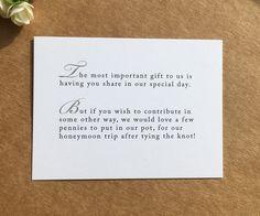 Wedding Poem Card Inserts Wedding Invitations Money Cash Gift Honeymoon in Home, Furniture & DIY, Wedding Supplies, Cards & Invitations   eBay