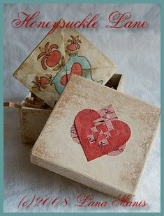 Puzzle purse valentines - based on love tokens of the 18th and 19th centuries - Lana Manis