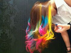 pastel rainbow crazy awesome hair