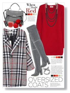 """Plaid"" by mmk2k ❤ liked on Polyvore featuring Yves Saint Laurent, Carvela Kurt Geiger, Proenza Schouler, Madison Parker, Stila, Oribe, coat and oversizedcoats"