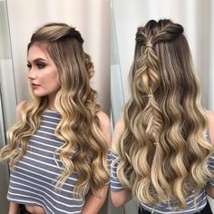 58 Fascinating Long Hairstyles for Women to go Work – Hair Styles Curls For Long Hair, Long Natural Hair, Long Curly Hair, Curly Hair Styles, Natural Hair Styles, Face Shape Hairstyles, Bun Hairstyles For Long Hair, Hair Dos, Braided Hairstyles