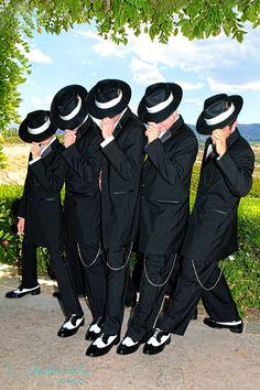 Zoot suit groomsmen, san diego wedding photographer
