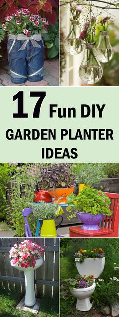 17 Fun DIY Garden Planter Ideas