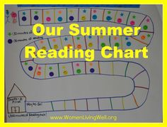 Creative Summer Reading Charts - To help you keep your kids reading all summer long!