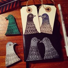I have been trying out my newly made dove stamps. #dove #bird #rubberstamp #handmade #carving #crafting #art #illustration #viktoriaastrom #decorative #craft #design