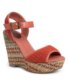 Take a look at this Cayenne Crochet Mallory Wedge by The Sak on #zulily today!