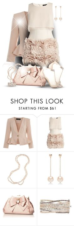 """""""In a Blush"""" by rockreborn ❤ liked on Polyvore featuring Miss Selfridge, BCBGMAXAZRIA, Carolee, Lele Sadoughi, KG Kurt Geiger, CZ by Kenneth Jay Lane, Casadei, blush and polyvoreeditorial"""