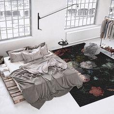 Vinyl rug Flowers