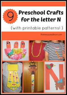 Crafts for letter N - with printable patterns