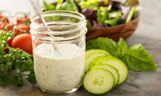 Want to make your own salad dressing? We've got you covered with these delicious salad dressing recipe ideas. Homemade Ranch Dip, Homemade Ranch Dressing, Healthy Ranch Dressing, Salad Dressing Recipes, Molho Ranch, Honey Mustard Recipes, Sauces, Vegetable Dips, Grilling