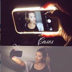Light Up Selfie Phone Case for iPhone    www.lights-camera-selfie.com