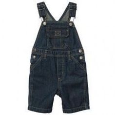 Carters Boys 6 Months Navy Blue Denim Shortalls NWT  #Carters #Everyday